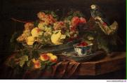 Fyt Jan Still Life with Fruit and Parrot - Hermitage